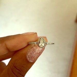 Pandora Radiant Teardrop Ring, Clear CZ